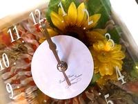 花リボン時計キット(時計+アートフラワーキット付)