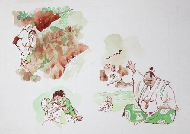 姥捨て山(1) 原画